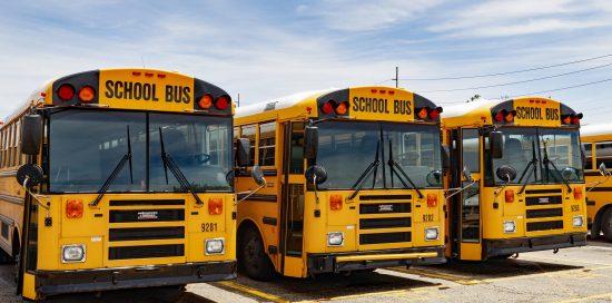 Indianapolis - Circa June 2019: Yellow School Bus In A District